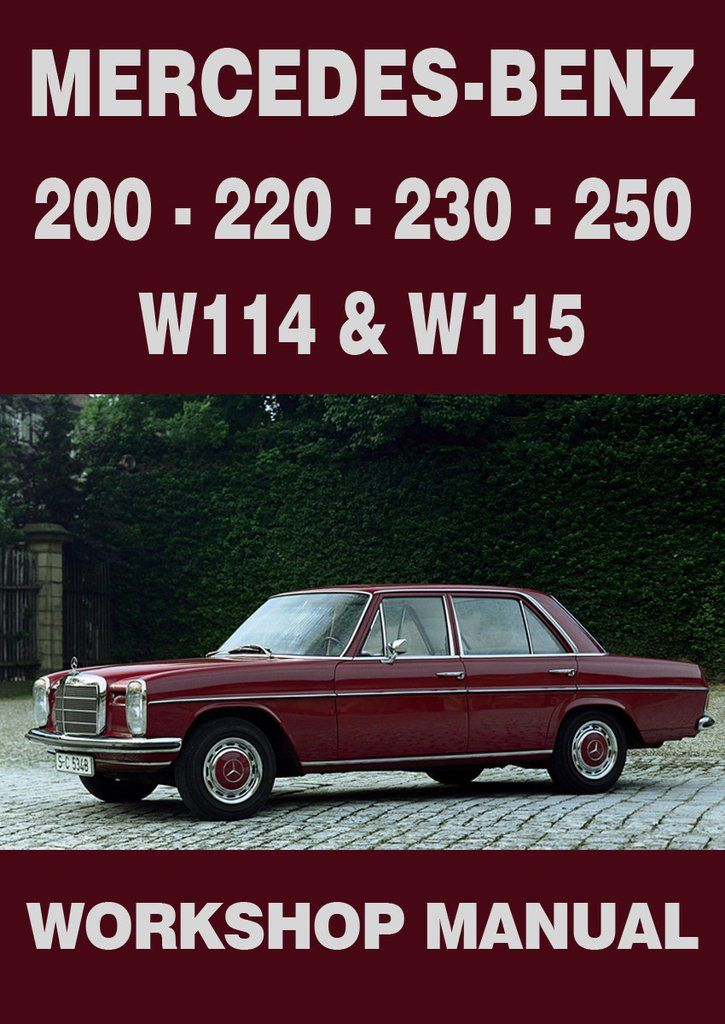 mercedes w115 manual free download