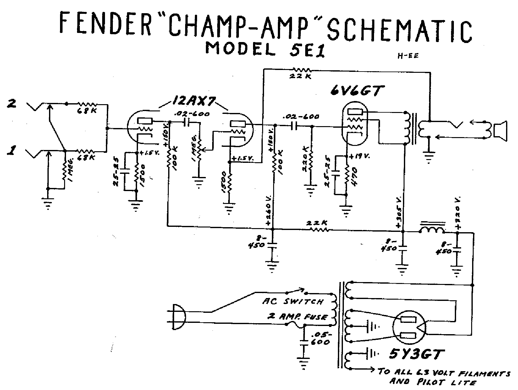 fender champ 12 manual pdf