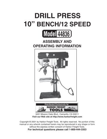 owners manual central machinery wood lathe model 67690