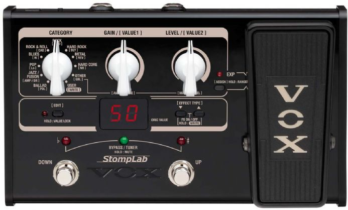 vox stomplab iig modeling effects pedal manual